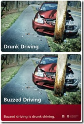 DUI ad campaign buzzed driving is drunk driving