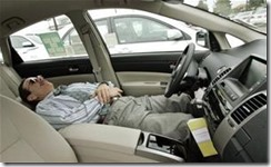 sleeping in drivers seat reclined